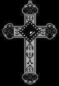 18 крест с узорами