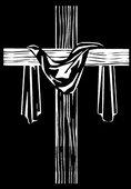 19 крест с тканью