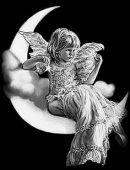 84 Девочка ангел на луне